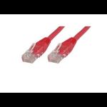Microconnect CAT6 U/UTP 0.5m LSZH networking cable Red U/UTP (UTP)