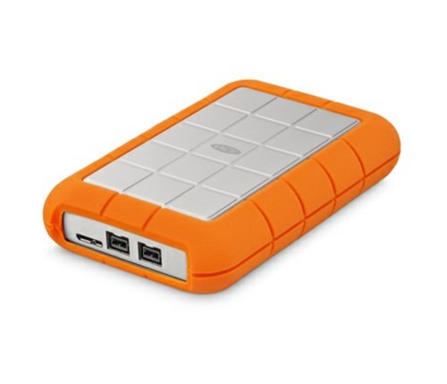 LaCie Rugged Triple USB 3.0 1TB External Hard Drive HDD Orange (301984)
