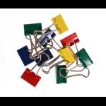 Whitecroft Essentials Value Fold Back Clips 19mm Assorted Colour PK50