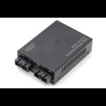 Digitus DN-82024 netwerk media converter 100 Mbit/s 1310 nm Multimode, Single-mode Zwart