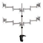 Brateck Quad Monitor Arm & Desk Clamp VESA 75/100mm Up to 27'