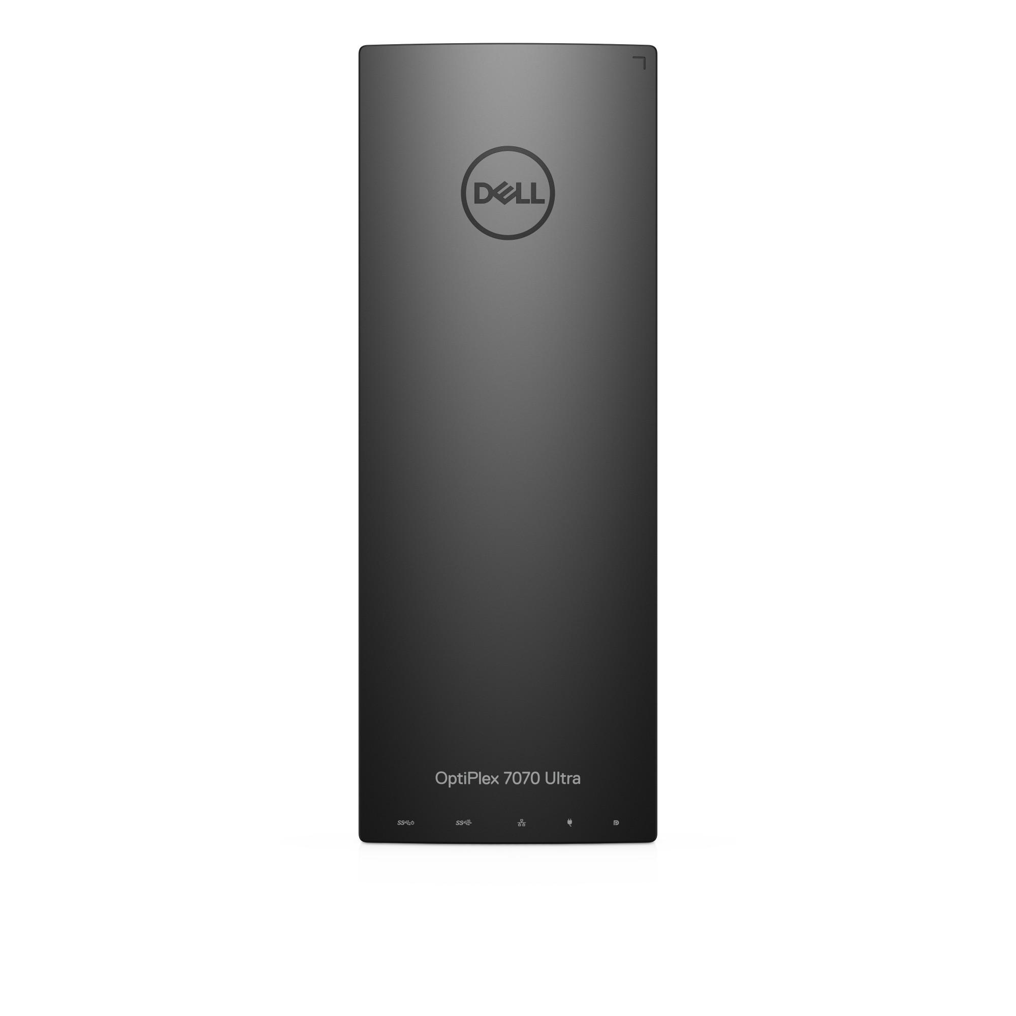 DELL OptiPlex 7070 8th gen Intel® Core™ i3 i3-8145U 4 GB DDR4-SDRAM 500 GB HDD UFF Black Mini PC Windows 10 Pro