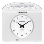 Sangean RCR-9 Clock Digital Black Clock/Portable Radio
