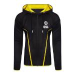 ESL Logo TEQ Full Length Zipper Hoodie, Male, Extra Extra Large, Black/Yellow (HD406622ESL-2XL)