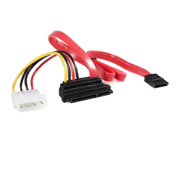 StarTech.com 18in Upward Right Angle SATA Cable with LP4 Adapter