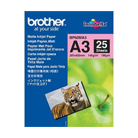 Brother BP60MA3 Inkjet Paper printing paper A3 (297x420 mm) Matte 25 sheets White