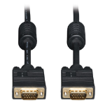 Tripp Lite VGA Coax Monitor Cable, High Resolution Cable with RGB Coax (HD15 M/M), 100-ft.