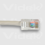 Videk Unbooted Cat6 UTP Patch Cable Black 2m networking cable