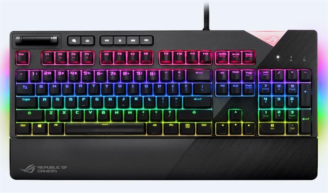 ASUS XA01 ROG Strix Flare keyboard USB QWERTY English Grey