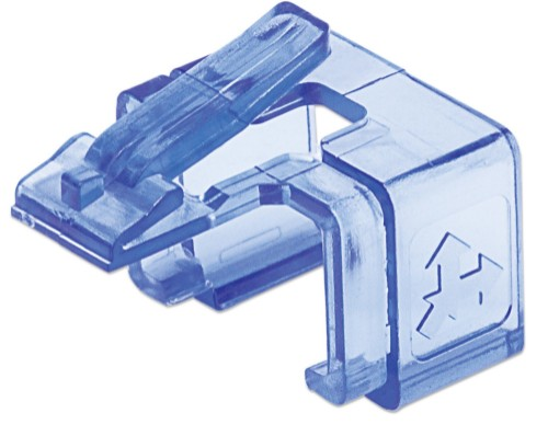 Intellinet RJ45 Repair Clip, For RJ45 modular plug, Transparent Blue, 50 pack