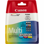 Canon 4541B006 (CLI-526) Ink cartridge multi pack, 450 pages, 9ml, Pack qty 3 4541B009