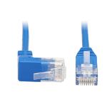 Tripp Lite N204-S01-BL-UP Up-Angle Cat6 Gigabit Molded Slim UTP Ethernet Cable (RJ45 Right-Angle Up M to RJ45 M), Blue, 1 ft. (0.31 m)