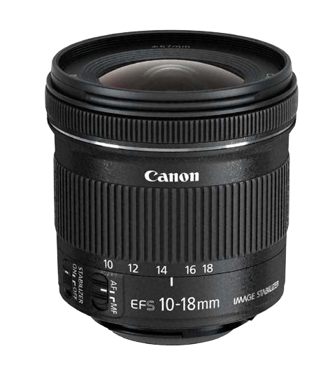 Canon EF-S 10-18 f/4.5-5.6 IS STM Objetivo ultra ancho Negro