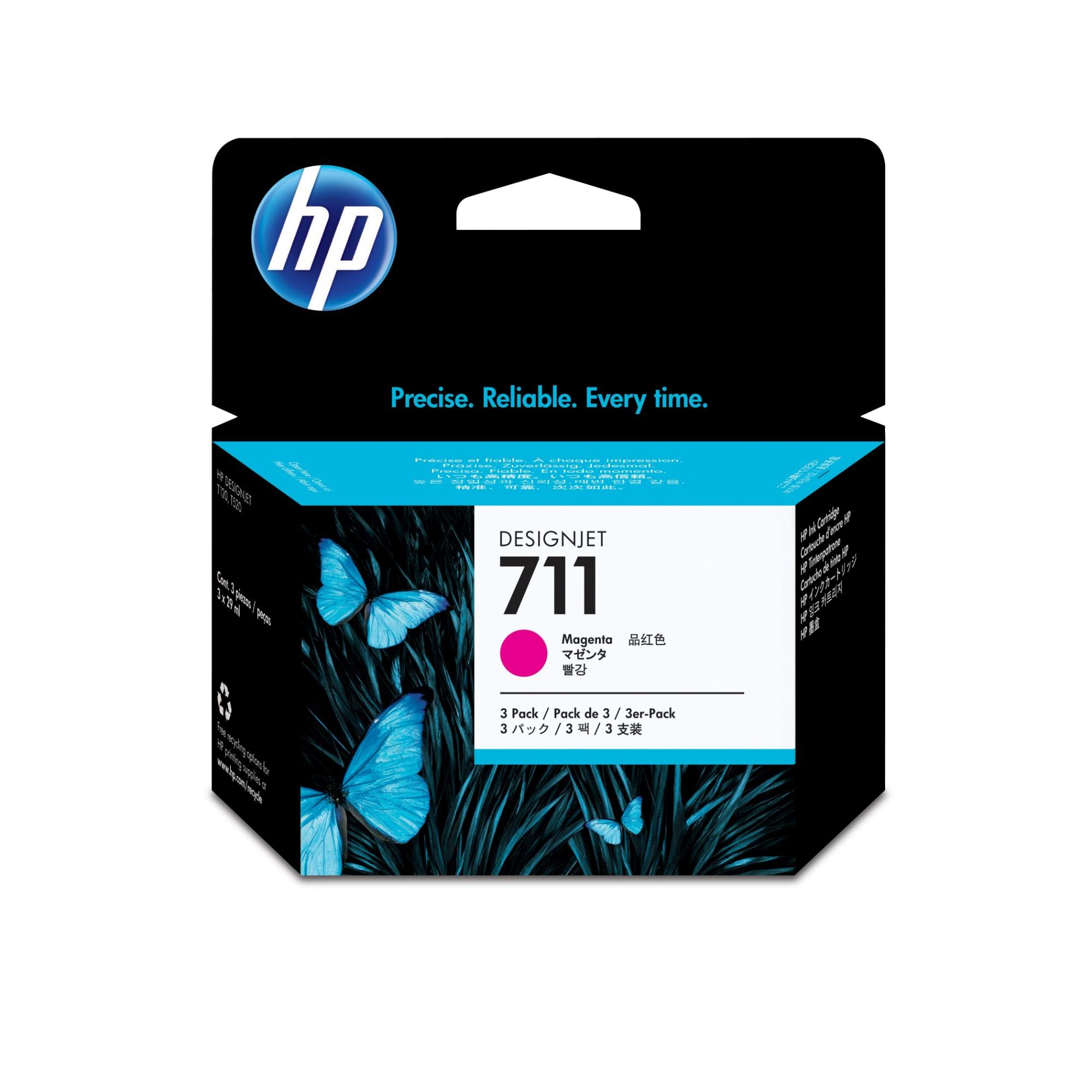 HP 711 Origineel Magenta Multipack 3 stuk(s)
