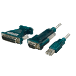 LogiLink UA0042A serial cable Grey, White 1.2 m USB A RS232 (9-pin)