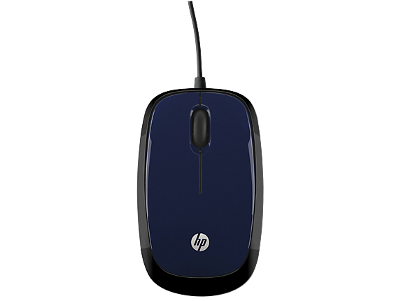 HP X1200 Revolutionary Blue Wired Mouse