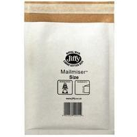 Jiffy Riggikraft Mailmiser Protective Envelopes Bubble-lined No.7 White 340x445mm Ref JMM-WH-7 [Pack