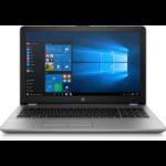 "HP 250 G6 Notebook Silver 39.6 cm (15.6"") 1366 x 768 pixels 7th gen Intel® Core™ i3 4 GB DDR4-SDRAM 500 GB HDD Wi-Fi 5 (802.11ac) Windows 10 Pro"