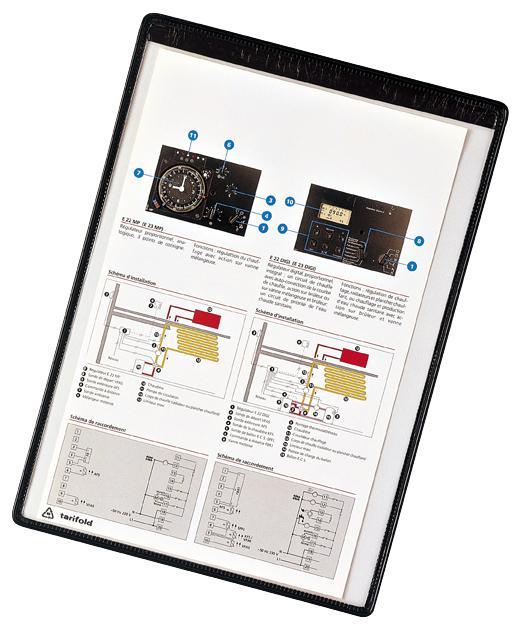 Tarifold Magnetic Framed A4 Pockets Black PK5