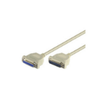 Microconnect DB25-DB25 5m serial cable White