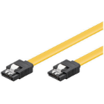Microconnect SAT15001C6 SATA cable 0.1 m SATA 7-pin Yellow