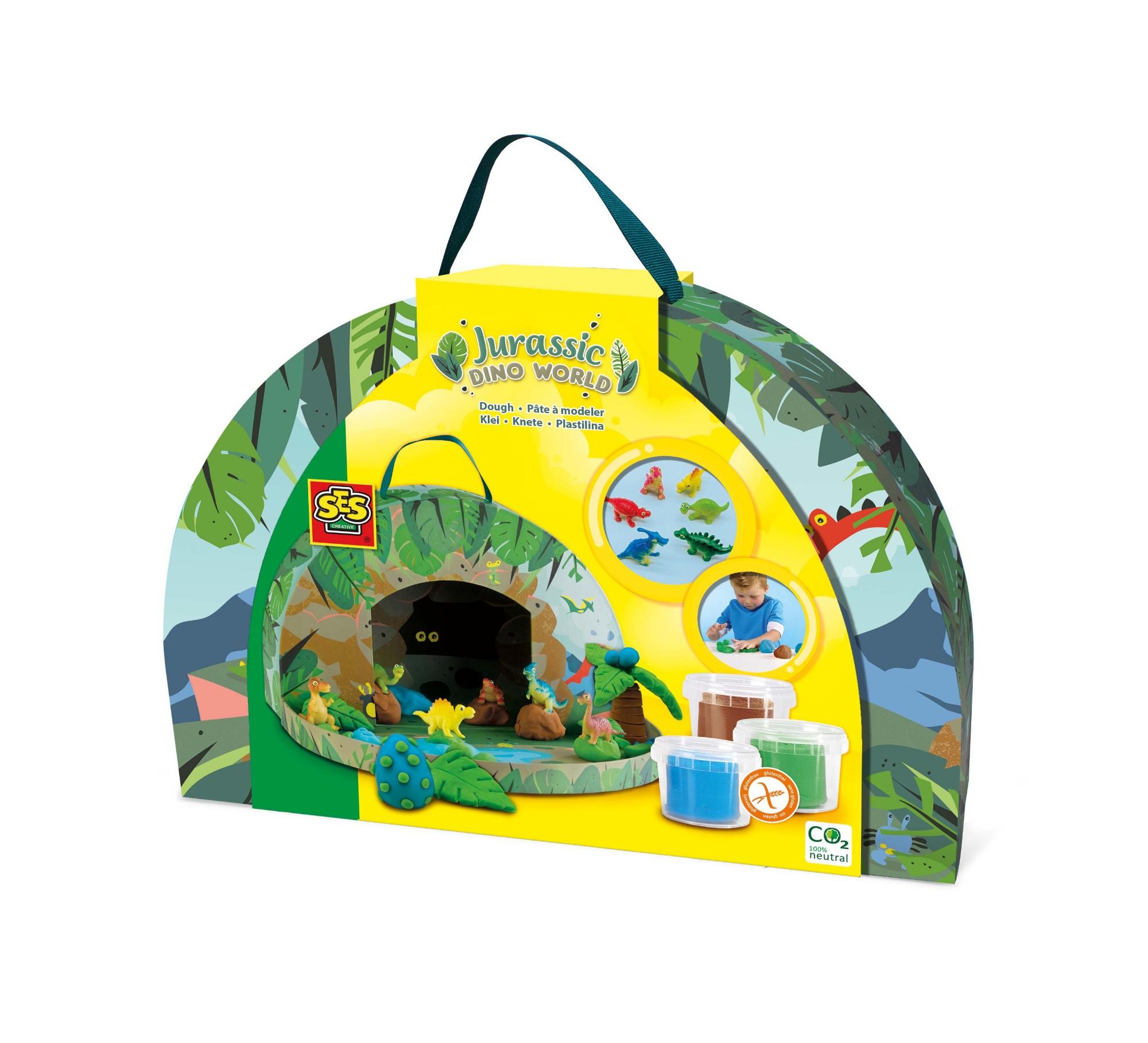SES Creative Jurassic dino world - Play suitcase
