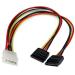 StarTech.com Adaptador Cable Divisor Molex 4 Pines a SATA - 2x Hembra SATA y 1x Macho LP4