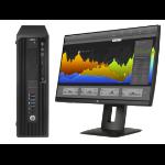 HP Z 240 SFF + Z24nf 3.4GHz i7-6700 SFF Black