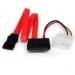 StarTech.com Cable Adaptador SATA de Línea Delgada a SATA con Alimentación LP4 - 12 pulgadas