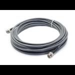 AddOn Networks ADD-734D3-BNC-15MPVC coaxial cable 15 m Black