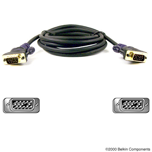 Belkin Gold Series VGA Monitor Signal Replacement Cable 3m 3m Black VGA cable