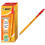 BIC Orange Fine Red Stick ballpoint pen 20 pc(s)