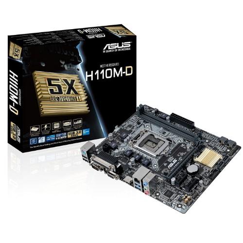 ASUS H110M-D motherboard LGA 1151 (Socket H4) Micro ATX Intel® H110
