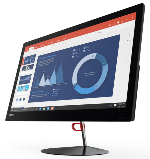 "Lenovo ThinkCentre X1 2.6GHz i7-6600U 23.8"" 1920 x 1080pixels Black All-in-One PC"