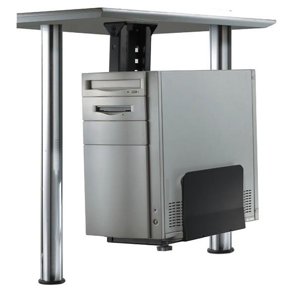 Newstar Under Desk PC Mount (Suitable PC Dimensions - Height: 39-54 cm / Width: 13-23 cm) - Black