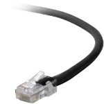 Belkin Cat5e, 1ft, 1 x RJ-45, 1 x RJ-45, Black 0.3m Black networking cable