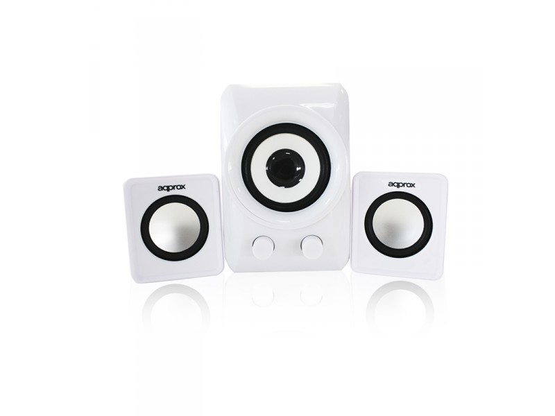Approx APPSP21MW 2.1 10W White speaker set