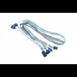 Supermicro CBL-SAST-0699 SATA-kabel 90 m Blauw, Grijs