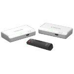 Vision HDMI-OVER-POWER TRANSMITTER AND RECEIVER WITH INTEGRATED HDMI SWITCHER AND IR PASS-THROUGH - Send yo