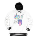 Pokémon Characters Group PopArt Hoodie, Female, Extra Large, White/Black (HD664135POK-XL)