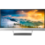 "HP S340c 34"" Wide Quad HD Matt Silver computer monitor"