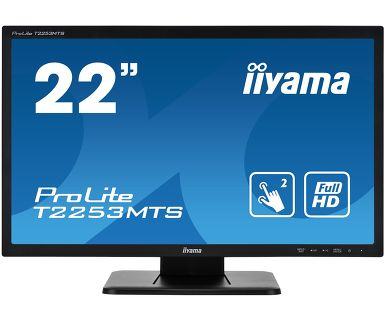"iiyama ProLite T2253MTS-B1 touch screen monitor 54.6 cm (21.5"") 1920 x 1080 pixels Black Dual-touch Tabletop"