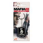 MAFIA III 223rd Gang Logo Metal Keychain with Lacquer Details, Black/Silver (GE3244)