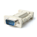 StarTech.com Null Modem Adapter DB9 Male - DB9 Female Gris