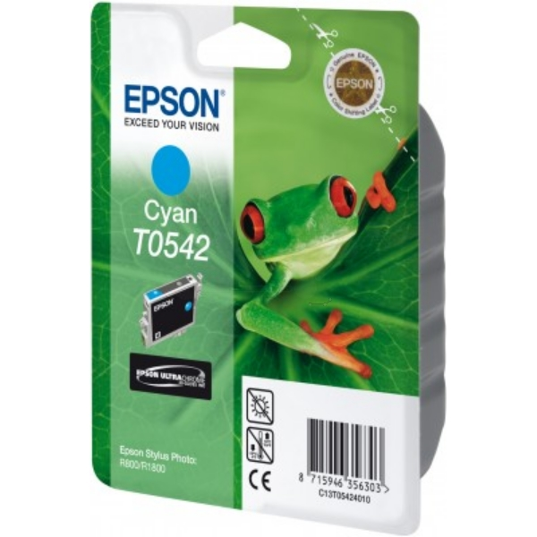 Epson C13T05424020 (T0542) Ink cartridge cyan, 400 pages, 13ml