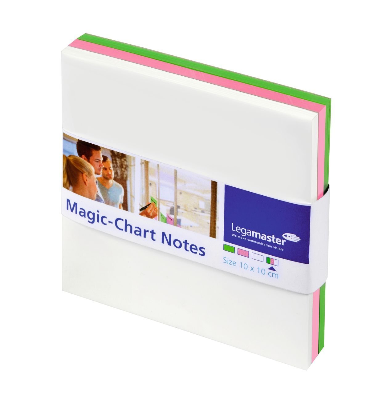 Legamaster Magic-Chart Notes Assorted 10x10cm PK250
