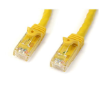 StarTech.com Cat6 patch cable with snagless RJ45 connectors – 75 ft, yellow