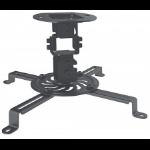 Manhattan Projector Mount, Ceiling, Universal, Tilt, Swivel & Rotate, Height: 15cm, Max 13.5kg, Black, Lifetime Warranty