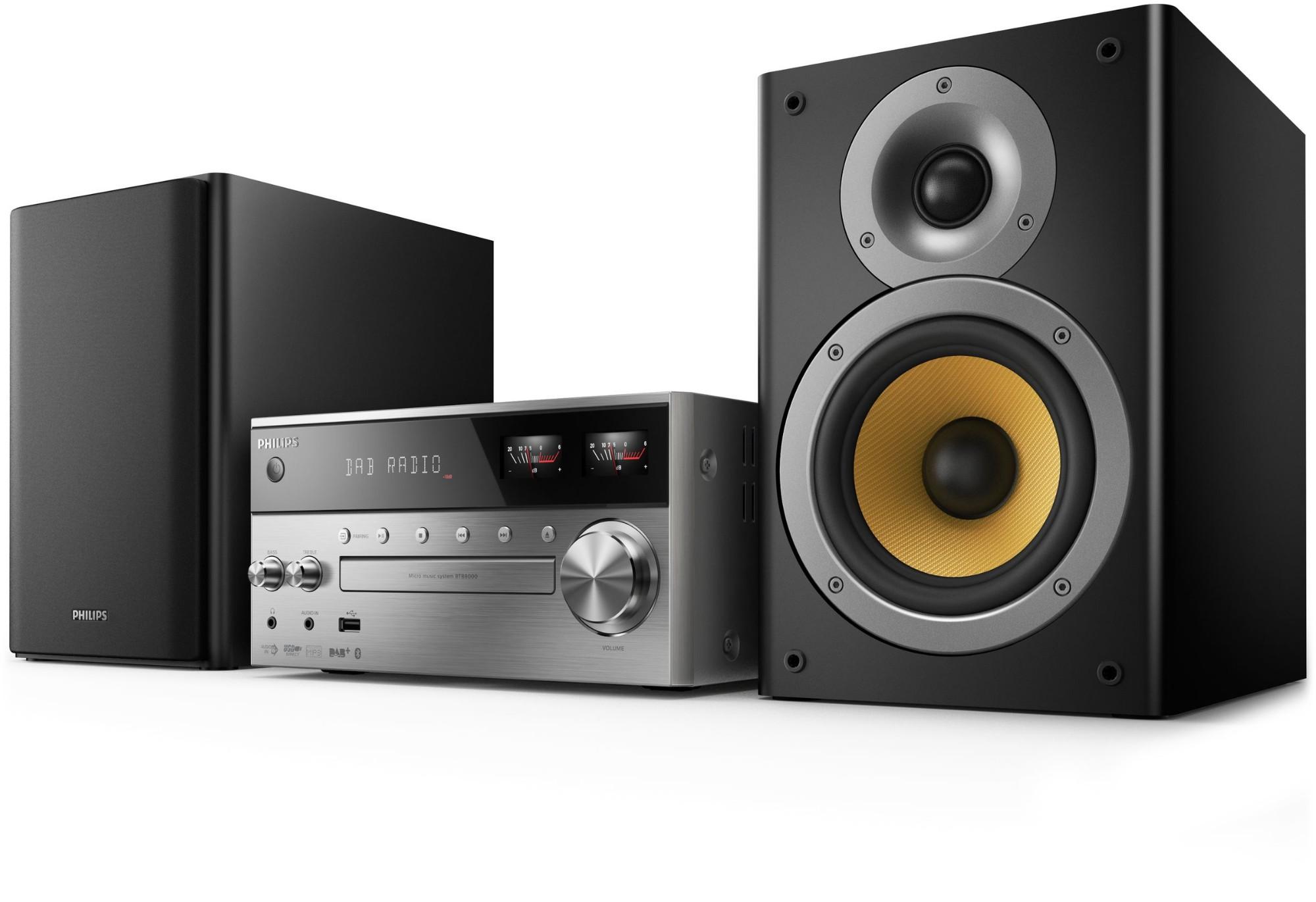 Philips BTB8000/12 home audio set Home audio micro system Black,Silver 150 W