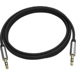 Vision TC 2M3.5MMP/BL- cable de audio 2 m 3,5mm Negro, Plata